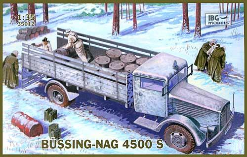 ドイツ ビューシング NAG 4500S 4.5t 大型トラック 後輪駆動プラモデル(IBG1/35 AFVモデルNo.35012)商品画像
