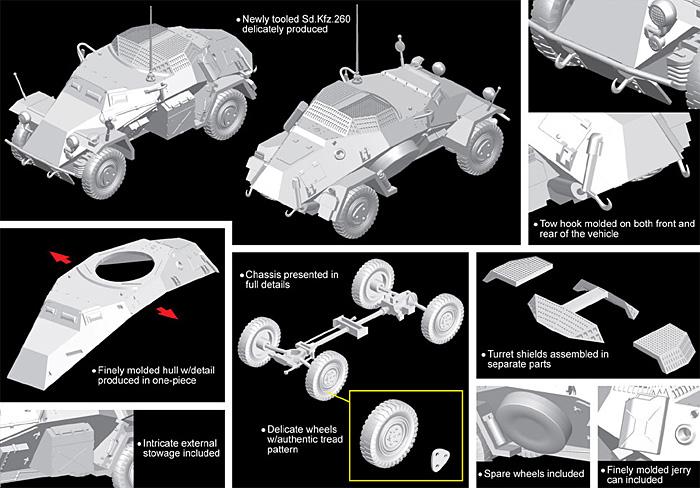 Sd.Kfz.260 軽装甲無線車プラモデル(ドラゴン1/72 ARMOR PRO (アーマープロ)No.7446)商品画像_2