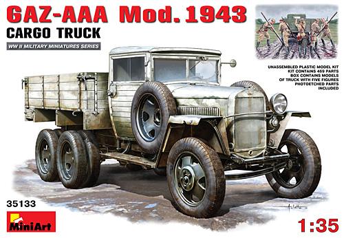 GAZ-AAA Mod.1943 カーゴトラックプラモデル(ミニアート1/35 WW2 ミリタリーミニチュアNo.35133)商品画像