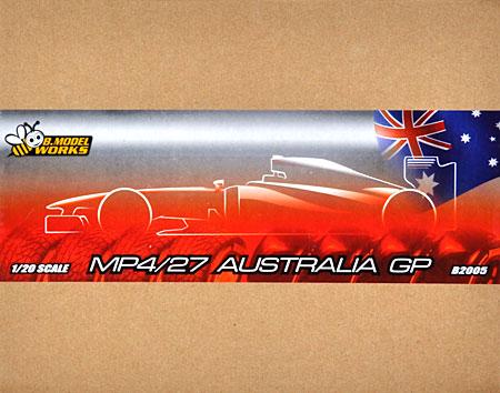 マクラーレン MP4/27 オーストラリア GPレジン(B.MODEL WORKS1/20 レジンキットNo.B2005)商品画像