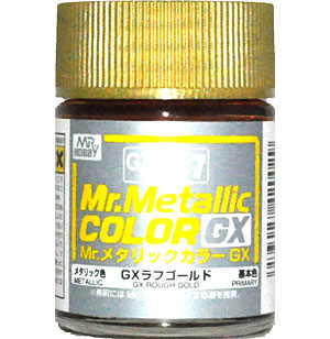 GX ラフゴールド (メタリック) (GX-217)塗料(GSIクレオスMr.メタリックカラー GXNo.GX-217)商品画像