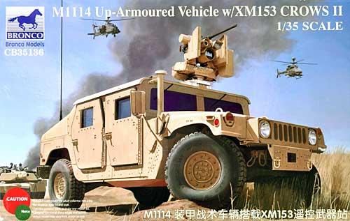 アメリカ M1114 ハンビー武装戦闘車両 遠隔操作銃塔装甲強化型 XM153 Crows 2プラモデル(ブロンコモデル1/35 AFVモデルNo.CB35136)商品画像