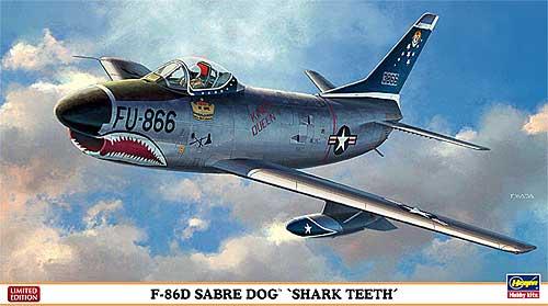 F-86D セイバードッグ シャークティースプラモデル(ハセガワ1/72 飛行機 限定生産No.02007)商品画像