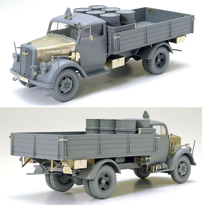 ドイツ 3トン 4×2 カーゴトラック (アベール社製 エッチングパーツ付き)プラモデル(タミヤスケール限定品No.25160)商品画像_2