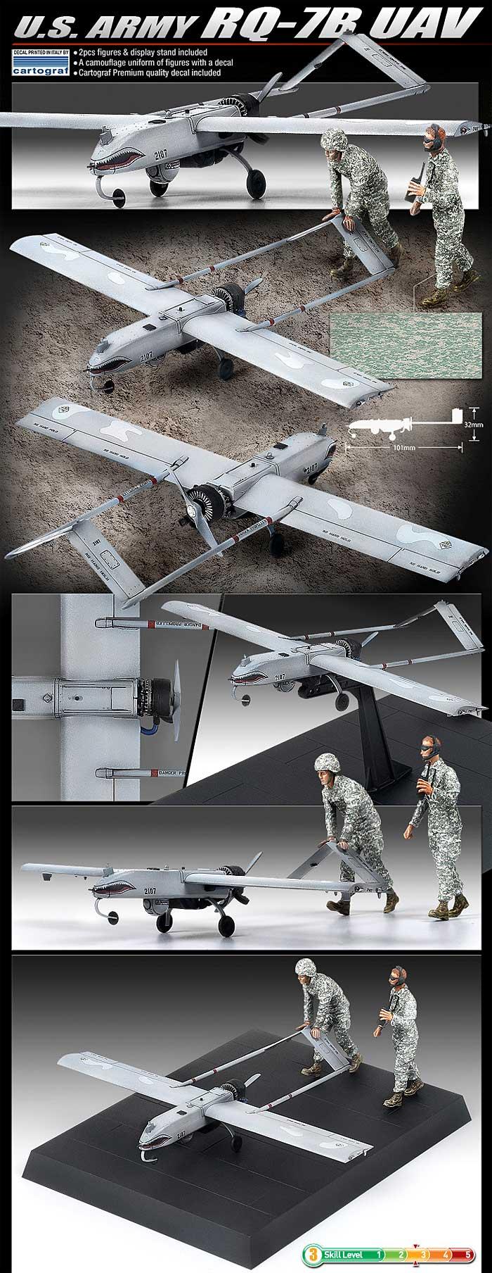アメリカ陸軍 RQ-7B UAVプラモデル(アカデミー1/35 AircraftNo.12117)商品画像_3