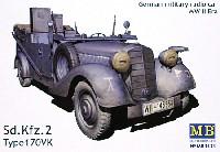 マスターボックス1/35 ミリタリーミニチュアドイツ Sd.kfz.2 軍用無線車 Type 170VK