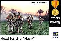 マスターボックス1/35 ミリタリーミニチュアアメリカ海軍 特殊部隊 負傷兵搬送撤退シーン ベトナム戦 (Head for the Huey)