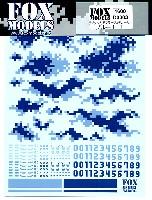 フォックスモデル (FOX MODELS)デジタルカモフラージュデカールデジタルカモフラージュデカール ブルー 1 L