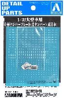 アオシマ1/32 デコトラアートアップパーツ大型車用 立体ナンバープレート (青ナンバー) 東日本