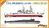 アメリカ海軍 駆逐艦 インガソル DD-990 + ソ連海軍 原子力潜水艦 デルタ 3 (2隻セット)
