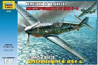 ズベズダ1/48 ミリタリーエアクラフト プラモデルメッサーシュッミット Bf109F-4
