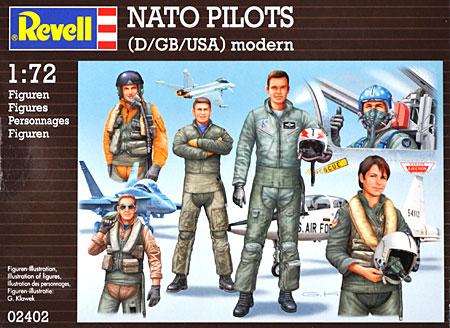 NATO パイロットセット (ドイツ・イギリス・アメリカ)プラモデル(レベル1/72 飛行機No.02402)商品画像
