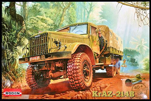 ソ連 クァーズ KrAZ214B 6輪 重大型トラックプラモデル(ローデン1/35 AFV MODEL KITNo.804)商品画像