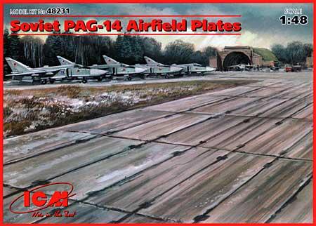 ソ連 滑走路用 コンクリートプレート PAG-14プラモデル(ICM1/48 エアクラフト プラモデルNo.48231)商品画像