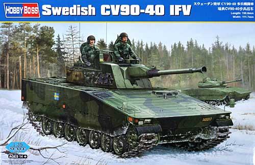 スウェーデン陸軍 CV90-40 歩兵戦闘車プラモデル(ホビーボス1/35 ファイティングビークル シリーズNo.82474)商品画像
