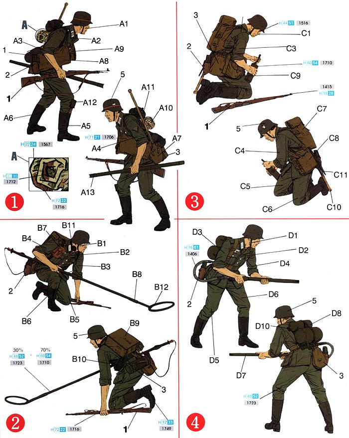 ドイツ 戦闘工兵 (クルスク 1943)プラモデル(ドラゴン1/35 '39-'45 SeriesNo.6024)商品画像_2