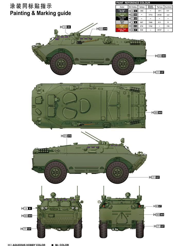 ソビエト軍 BRDM-2UM 指揮通信車プラモデル(トランペッター1/35 AFVシリーズNo.05514)商品画像_2