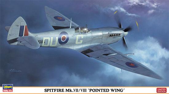 スピットファイア Mk.7/8 尖形翼プラモデル(ハセガワ1/48 飛行機 限定生産No.07321)商品画像