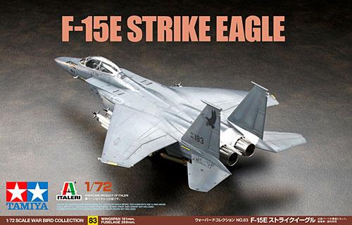 F-15E ストライクイーグルプラモデル(タミヤ1/72 ウォーバードコレクションNo.083)商品画像