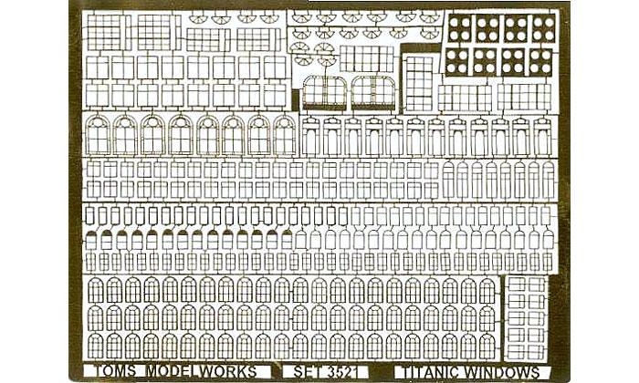 タイタニック用窓枠エッチング(トムスモデル1/350 艦船用エッチングパーツシリーズNo.TM3521)商品画像_1