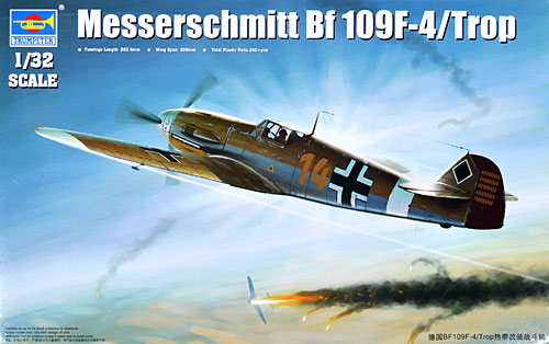 メッサーシュミット Bf109F-4/Tropプラモデル(トランペッター1/32 エアクラフトシリーズNo.02293)商品画像