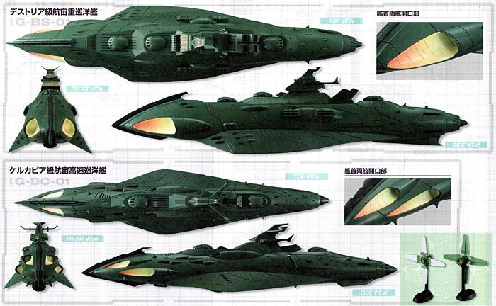 大ガミラス帝国航宙艦隊 ガミラス艦セット 1プラモデル(バンダイ宇宙戦艦ヤマト 2199No.0180760)商品画像_1