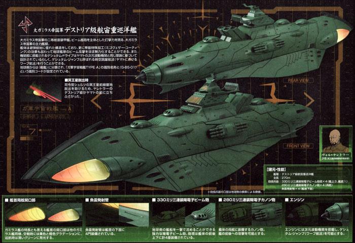大ガミラス帝国航宙艦隊 ガミラス艦セット 1プラモデル(バンダイ宇宙戦艦ヤマト 2199No.0180760)商品画像_3