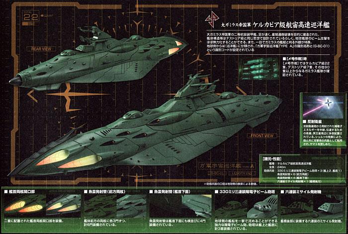 大ガミラス帝国航宙艦隊 ガミラス艦セット 1プラモデル(バンダイ宇宙戦艦ヤマト 2199No.0180760)商品画像_4