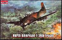 ローデン1/48 エアクラフト プラモデルノースアメリカン T-28D トロージャン 複座 レシプロ地上攻撃機