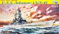 サイバーホビー1/700 Modern Sea Power Seriesアメリカ海軍 U.S.S アーカンソー CGN-41 原子力ミサイル巡洋艦