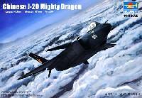 中国空軍 J-20 戦闘機 ブラックリボン