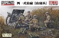 ファインモールド1/35 ミリタリー帝国陸軍 四一式山砲 山砲兵