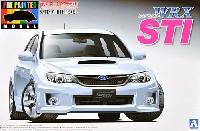 アオシマ1/24 プリペイントモデル シリーズGRB インプレッサ WRX STI 5door '10 (サテンホワイト・パール)