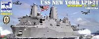 ブロンコモデル1/350 艦船モデルアメリカ海軍 ドック型揚陸艦 LPD-21 ニューヨーク