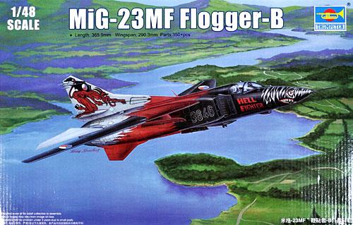 MiG-23MF フロッガー Bプラモデル(トランペッター1/48 エアクラフト プラモデルNo.02854)商品画像