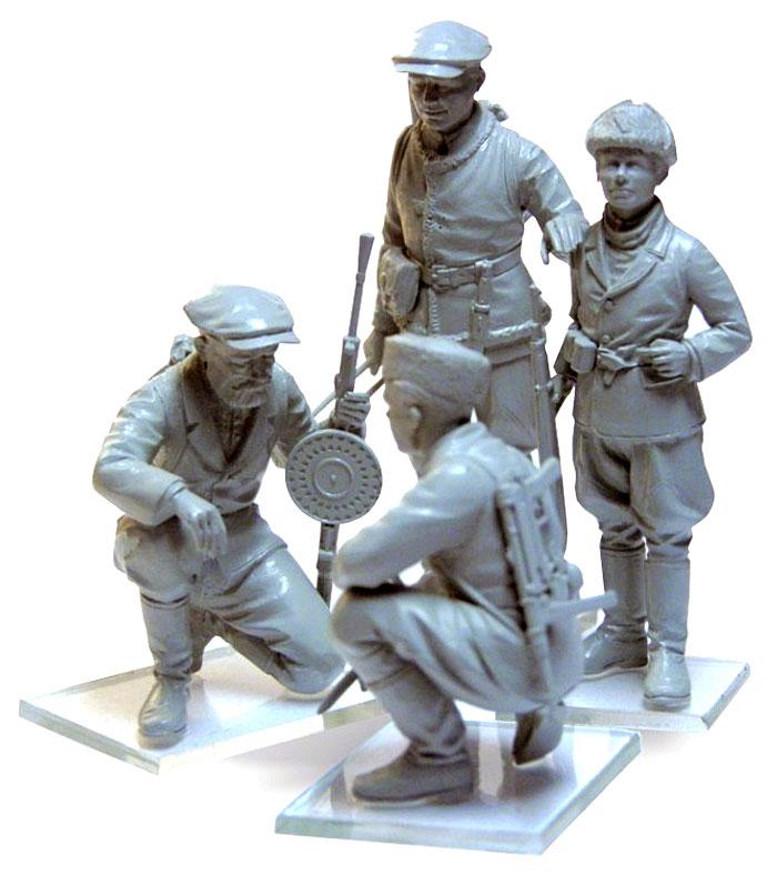 WW2 ロシア パルチザン兵士プラモデル(ICM1/35 ミリタリービークル・フィギュアNo.35631)商品画像_3