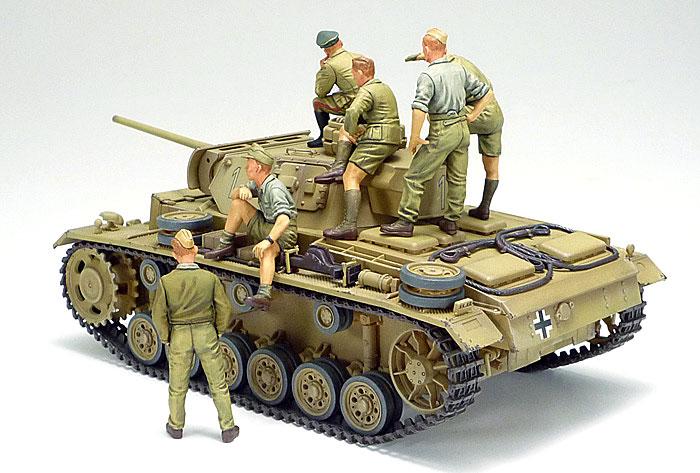 ドイツ 3号戦車 L型 ロンメル野戦指揮セット (人形6体付き)プラモデル(タミヤ1/35 ミリタリー コレクションNo.32405)商品画像_2