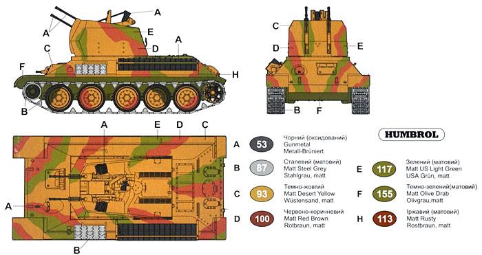 ドイツ T-34(r) 4連装 Flak38搭載 対空戦車プラモデル(ユニモデル1/72 AFVキットNo.254)商品画像_1