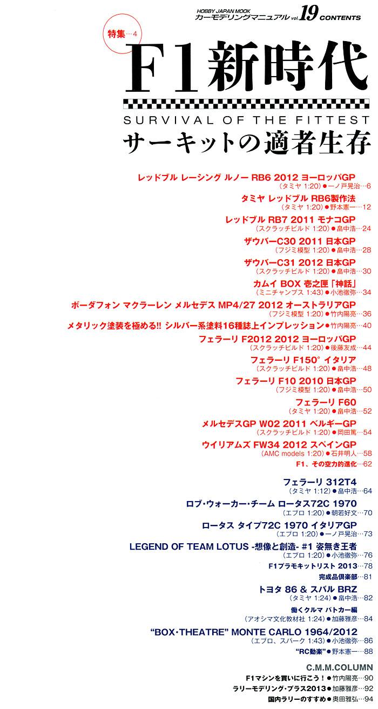 カーモデリング マニュアル Vol.19本(ホビージャパンカーモデリングマニュアルNo.019)商品画像_1