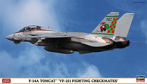 F-14A トムキャット VF-211 ファイティング チェックメイツプラモデル(ハセガワ1/72 飛行機 限定生産No.02022)商品画像