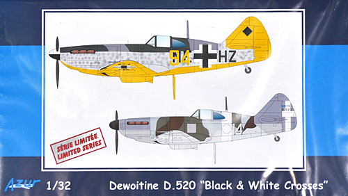 ドボワチーヌ D.520 戦闘機 ドイツ & イタリア軍プラモデル(アズール1/32 航空機モデルNo.A108)商品画像