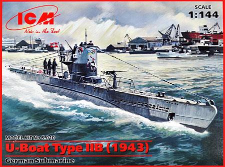 ドイツ Uボート タイプ2B (1943年)プラモデル(ICM1/144 シップ&ボートNo.S.010)商品画像
