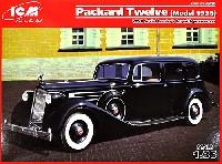 ICM1/35 ミリタリービークル・フィギュアロシア パッカード 12 最高指導者用乗用車 1936年型 + 乗員5体