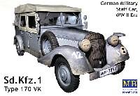 マスターボックス1/35 ミリタリーミニチュアドイツ kfz.1 4輪軍用乗用車 Type 170VK スタッフカー