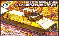ユニモデル1/72 AFVキットロシア T-28 多砲塔戦車 装甲車台型 レールカー