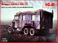 ICM1/35 ミリタリービークル・フィギュアドイツ クルップ L3H163 無線トラック Kfz.72