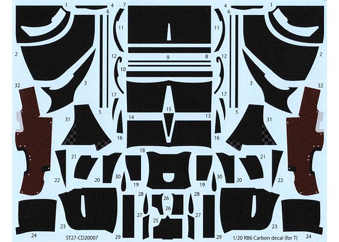 レッドブル RB6 カーボンデカールデカール(スタジオ27F1 カーボンデカールNo.CD20007)商品画像_3
