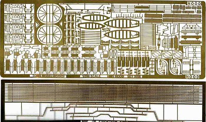 英海軍 巡洋戦艦 フッド用エッチング(トムスモデル1/350 艦船用エッチングパーツシリーズNo.TM3556)商品画像_1