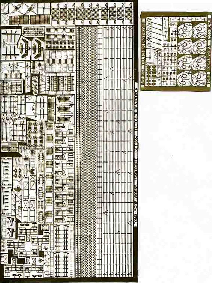 米海軍 駆逐艦 フレッチャー級 ザ・サリヴァンズ用エッチング(トムスモデル1/350 艦船用エッチングパーツシリーズNo.TM3557)商品画像_1