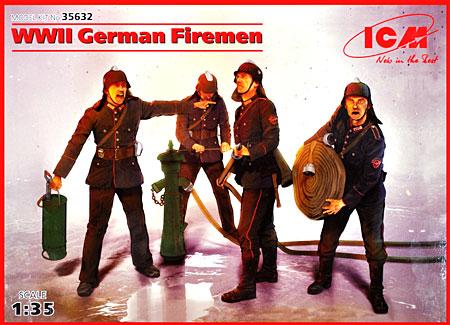 ドイツ 消防士 4体 1939-45年プラモデル(ICM1/35 ミリタリービークル・フィギュアNo.35632)商品画像